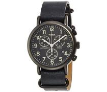 Armbanduhr Chronograph Quarz Leder TW2P62200