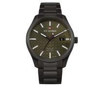 Analog Quarz Uhr mit Edelstahl Armband WBS109BBM
