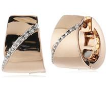 Creolen 925 Sterling Silber rhodiniert Zirkonia Bronze farbig Phanes ELCO91779B000