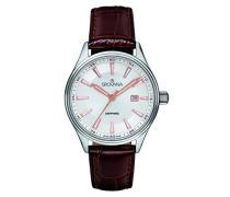 Datum klassisch Quarz Uhr mit Leder Armband 3194.1528
