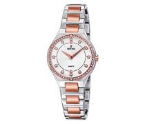 Analog Quarz Uhr mit Edelstahl beschichtet Armband F20226/3