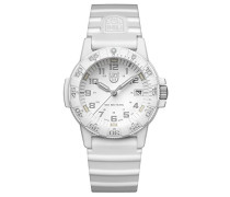 Datum klassisch Quarz Uhr mit Silikon Armband XS.0307.WO