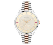 Analog Quarz Uhr mit Edelstahl Armband R4253102520