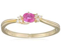 Ring 9 Karat (375) Gelbgold Rubin badm 07005-0001