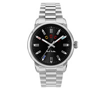 Analog Quarz Uhr mit Edelstahl Armband P10024