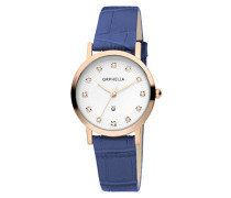 Damen-Armbanduhr Moonlight Analog Quarz Leder