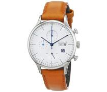 Chronograph Quarz Uhr mit Leder Armband DF-9021-05