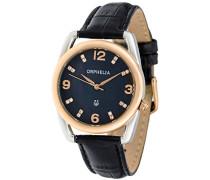 Damen-Armbanduhr Classic Glam Analog Quarz Leder
