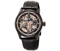 Erwachsene Analog Automatik Smart Watch Armbanduhr mit Leder Armband ES-8076-04