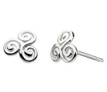 Ohrstecker aus Sterling-Silber, Wirbeldesign