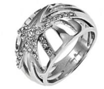 Ring, Edelstahl, Zirkonoxid, 58 (18.5)
