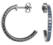 Ohrstecker 925 Sterling Silber rhodiniert Kristall Zirkonia brilliance blue blau ESER92327E000