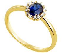 Ring 18 Karat (750) Gelbgold Saphir-badm 07076-0001
