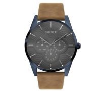 Erwachsene Analog Quarz Smart Watch Armbanduhr mit Leder Armband SO-3571-LM