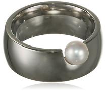 Damen-Ring Edelstahl Perle
