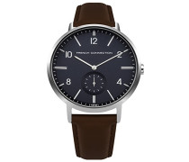 Datum klassisch Quarz Uhr mit Leder Armband FC1288U
