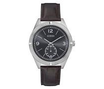 Herren Analog Quarz Uhr mit Leder Armband W0873G1