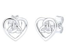 Ohrringe Herz Infinity Trinität Knoten 925 Sterling Silber 0311841716