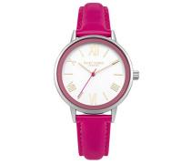 Damen Analog Quarz Uhr mit Leder Armband DD046PS