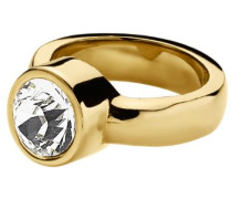 Ring Edelstahl 24ct. Vergoldet 1 Swarovski-Kristall Cyrielle 57 (18.1) 330324