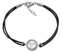 Celesta Silber Armband 925 Sterling Silber Zirkonia beige Rundschliff 19 cm 360260144-20