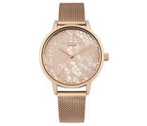 Datum klassisch Quarz Uhr mit Edelstahl Armband DD051RGM