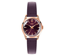 Datum klassisch Quarz Uhr mit Leder Armband HL25-S-0192