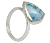 D for Diamond Ring Sterling-Silber 925 Blautopas 52 (16.6) 2.39 mm KRW001B SZ6