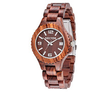 Armbanduhr NO Limits NAT Analog Quarz Holz R3253478014