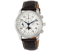 Chronograph Automatik Uhr mit Leder Armband L26734783