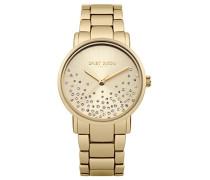 Datum klassisch Quarz Uhr mit Edelstahl Armband DD053GM
