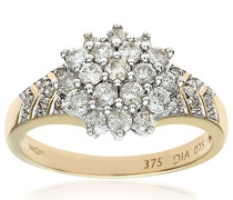 Damen-Ring 375 Gelbgold 31 Diamant 9 Karat