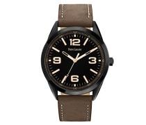 Herren-Armbanduhr Analog Quarz Leder 212D434