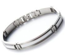 Armband Edelstahl Edelharzeinlagen weiß 21 cm 41542