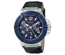 Armbanduhr XL Chronograph Quarz Leder W0040G7