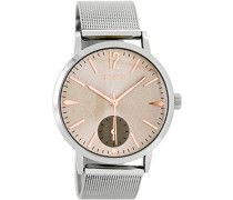 Chronograph Quarz Uhr mit Edelstahl Armband C8612