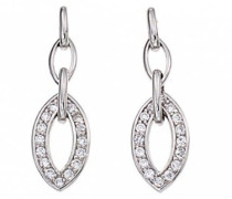 D32057Z-zeitlos-Ohrringe Sterling-Silber 925/1000 Zirkonia Weiß