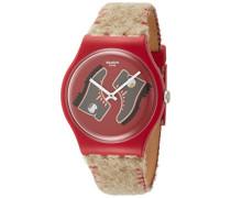Herren Analog Quarz Uhr mit Leder Armband SUOR708