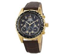 Datum klassisch Automatik Uhr mit Leder Armband BM302a-295