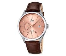 Herren-Armbanduhr Analog Quarz Leder 18214/2