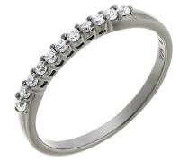 Ring 925 Silber Zirkonia Weiß Brillantschliff