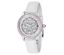 Skeleton Automatik Smart Watch Armbanduhr mit Leder Armband ES-8064-01
