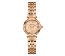 Diamond 97S116 - Designer-Armbanduhr - Roségoldfarben
