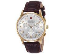 Patriot Armbanduhr mit silber Zifferblatt Chronograph-Anzeige und braun Lederband 6–4187.02.001