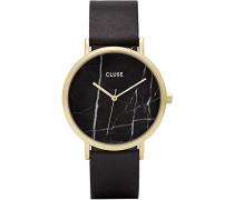 Damen Armbanduhr Analog Quarz Leder CL40004