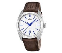 Herren-Armbanduhr XL Analog Quarz Leder F16777/2