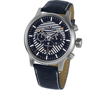 Armbanduhr XL Porto Chronograph Quarz Leder 1-1795C