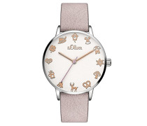 Analog Quarz Armbanduhr mit Leder Armband SO-3544-LQ