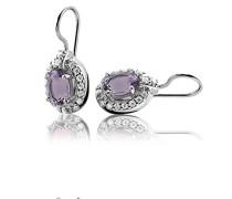 Ohrhänger 925 Sterling Silber rhodiniert Zirkonia violett ZO-5211