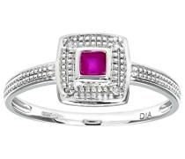 Damen-Ring 375 Weißgold 9 K Diamant PR08940W RU-P